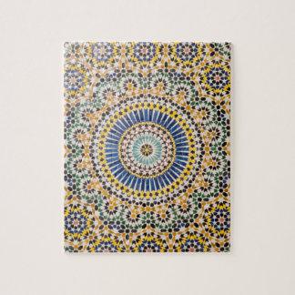 Geometric tile pattern, Morocco Jigsaw Puzzle