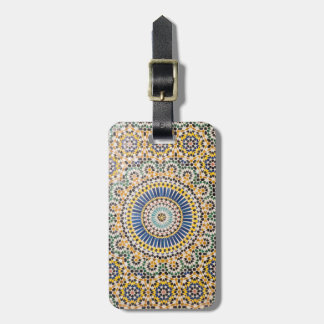 Geometric tile pattern, Morocco Luggage Tag
