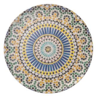 Geometric tile pattern, Morocco Plate