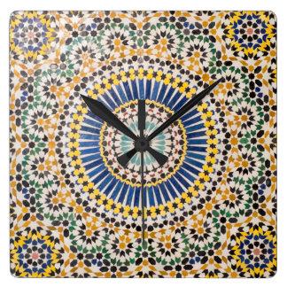 Geometric tile pattern, Morocco Wallclock