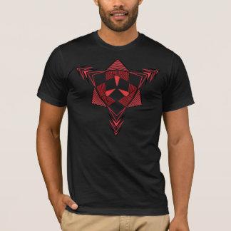 Geometric Trance red T-Shirt