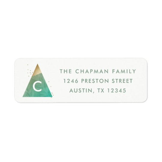 Geometric tree return address label
