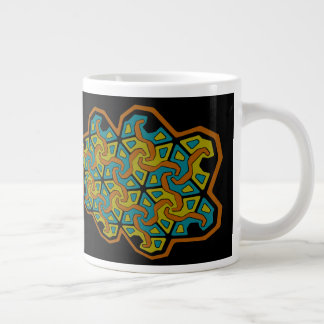 Geometric Tri-Arrow Design Large Coffee Mug