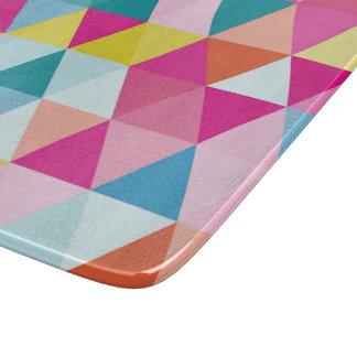 Geometric Triangle Pattern Cutting Board