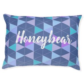 Geometric Triangle Pet Bed   Teal-Pink-CustomBG