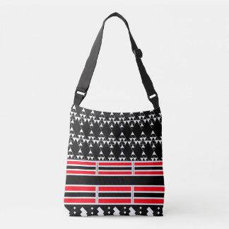 Geometric Triangles and Stripes Crossbody Bag