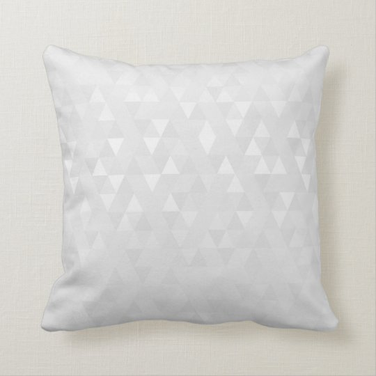 Geometric Triangles Mustard Gray Ivory Gold Cushion
