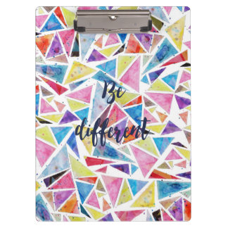 "geometric triangles pattern ""be different"" quote clipboard"