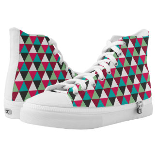Geometric Triangles Pattern High Tops
