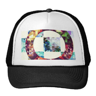 Geometric. Triangles + squares+ Cicles. Trucker Hats