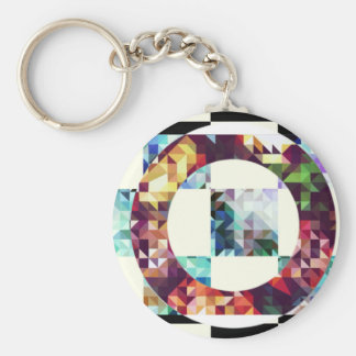 Geometric. Triangles + squares+ Cicles. Keychain
