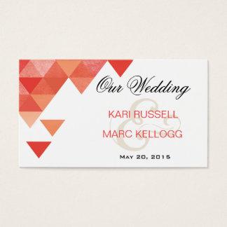 Geometric Triangles Wedding Website | coral
