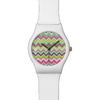 Geometric tribal aztec andes chevron zig zag print watch