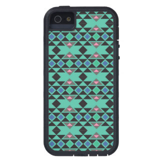 Geometric tribal aztec andes hipster teal pattern iPhone 5 cases