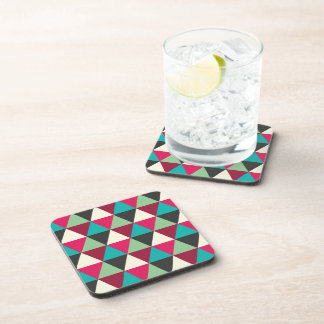 Geometric Tribal Native Triangles Pattern Coaster