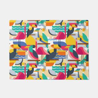 Geometric Tropical Birds Doormat