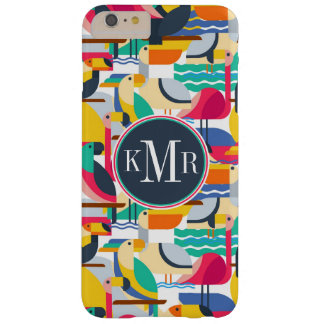 Geometric Tropical Birds | Monogram Barely There iPhone 6 Plus Case