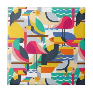 Geometric Tropical Birds Tile