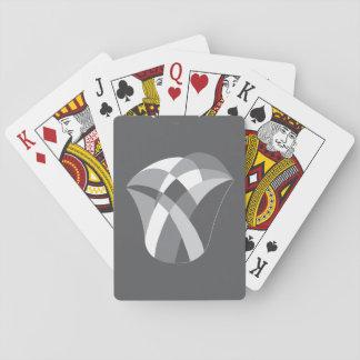 geometric tulip playing cards