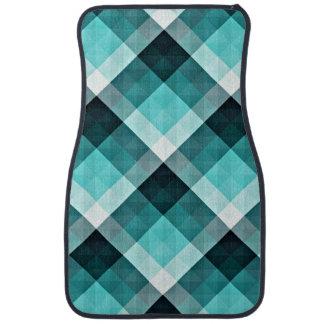 Geometric Turquoise Pattern Car Mat