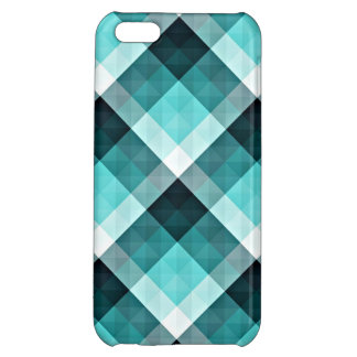 Geometric Turquoise Pattern Case For iPhone 5C