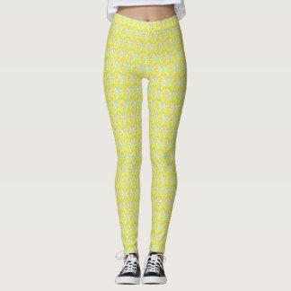 Geometric Vibrant Yellow Pattern Leggings