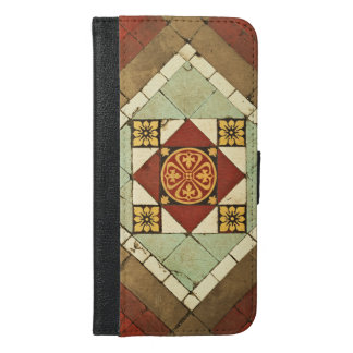 geometric victorian floral ceramic tile design