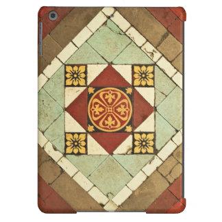 geometric victorian floral ceramic tile design iPad air case