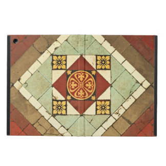 geometric victorian floral ceramic tile design iPad air covers