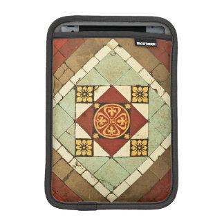 geometric victorian floral ceramic tile design iPad mini sleeve