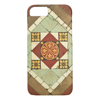 geometric victorian floral ceramic tile design iPhone 7 case