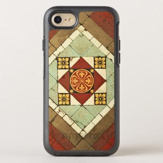 geometric victorian floral ceramic tile design OtterBox symmetry iPhone 7 case