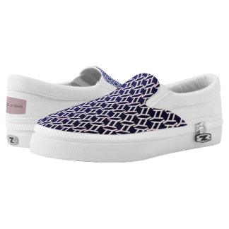 """geometric"" violet canvas texture Slip-On shoes"