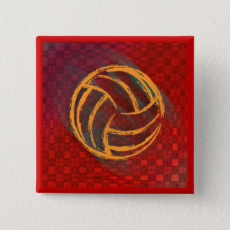 Geometric Volleyball Button