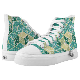 geometric washed shoes printed shoes