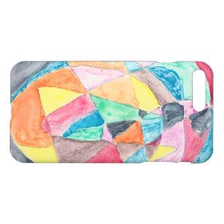 Geometric Watercolor iPhone Case by Elliot