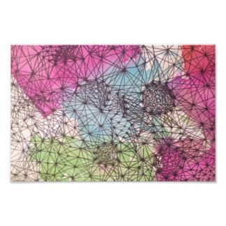 Geometric Watercolor Print Art Photo