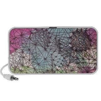 Geometric Watercolor iPhone Speakers