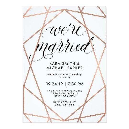 Post Wedding Party Invitation Wording: Post-Wedding Party 13 Cm X 18 Cm