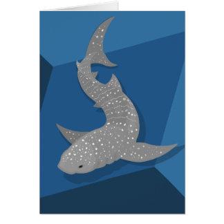Geometric Whale Shark Vector Art Blank Card
