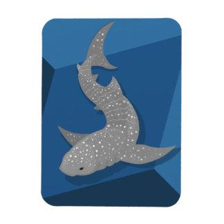 Geometric Whale Shark Vector Art Flexible Magnet