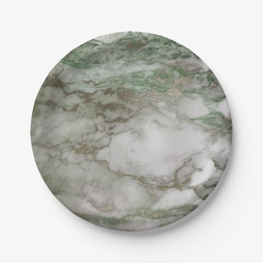 Geometric White Gray Carrara Mint Cali Gold Marble