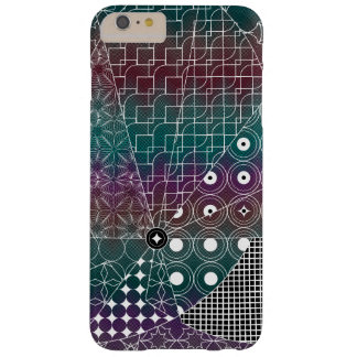 Geometric White pattern on Black  Chevron patte Barely There iPhone 6 Plus Case