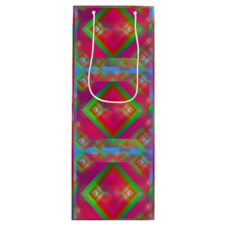 Geometric Wine Gift Bag