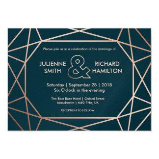 Geometric | Winter Wedding Invitation