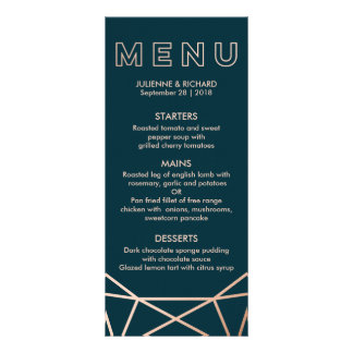 Geometric | Winter Wedding Menu