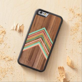 Geometric wood arrow carved maple iPhone 6 bumper case