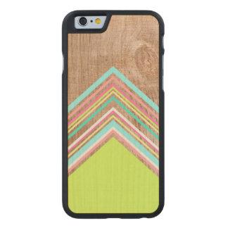 Geometric wood arrow carved maple iPhone 6 case