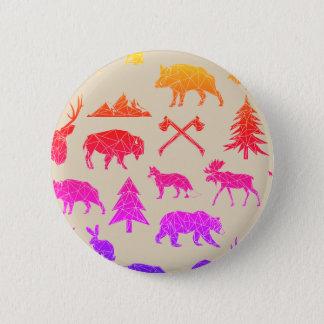 Geometric Woodland Animals | Animal Button