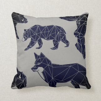 Geometric Woodland Animals | Animal Throw Pillow